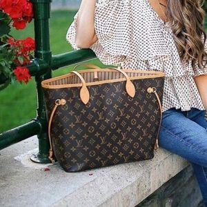 3dc876cbbea1 Louis Vuitton Bags - Auth Louis Vuitton Neverfull MM Shoulder Bag Tote